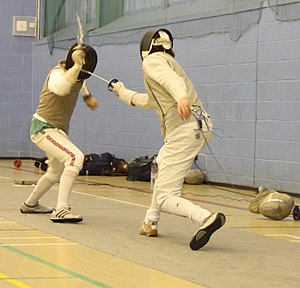 Collegiate fencing - A fencing match at the University of Kent