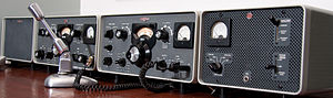 Rockwell Collins - Collins S/Line – 516F-2 power supply, 75S-3B receiver, 32S-3 transmitter, 312B-4 console, SM-1 microphone, circa 1969
