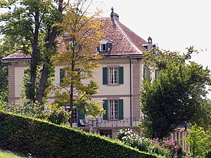 Cologny - Villa Diodati in Cologny, where Frankenstein and The Vampyre were begun.