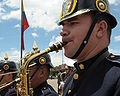 Colombian military band at Monument of Fallen Soldiers and Police in Bogota 3-5-09.jpg