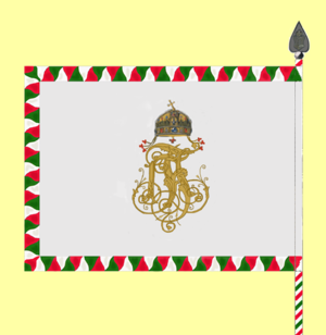 Royal Hungarian Honvéd - Reverse of the Royal Hungarian Honvéd's colours