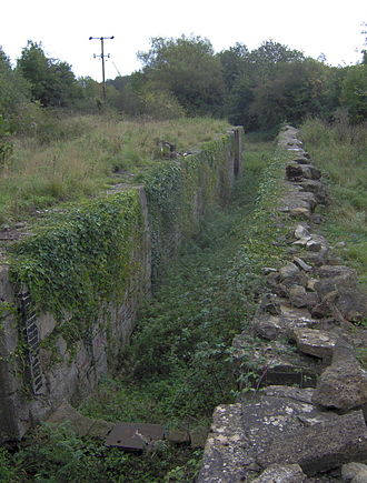 Somerset Coal Canal - Derelict lock next to Caisson House, Combe Hay
