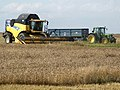 Combine Harvesting at Capnil Farms, Old Woodhall - geograph.org.uk - 559012.jpg