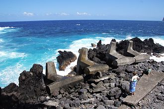 Laupāhoehoe, Hawaii - Concrete reinforcements at Laupahoehoe