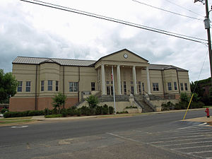 Evergreen, Conecuh County, Alabama - The Conecuh County Government Center in May 2013