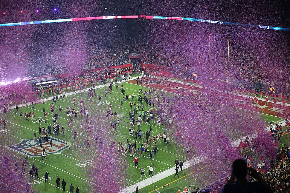 Confetti after Super Bowl LI
