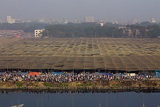 Tablighi Jamaat - Bishwa Ijtema (World Gathering) of Muslims at Tongi, Bangladesh