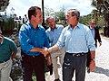 Congressman Mario Díaz-Balart shakes hands with President George W. Bush.jpg