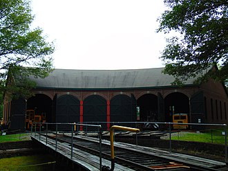 Connecticut Eastern Railroad Museum - The roundhouse at the museum.