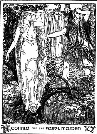"""Echtra Condla - """"Connla and the Fairy Maiden"""" by John D. Batten"""