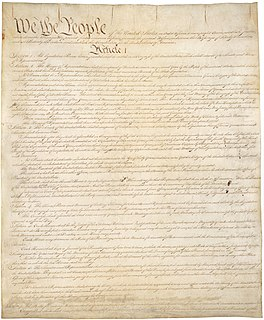 Constitution of the United States Supreme law of the United States of America