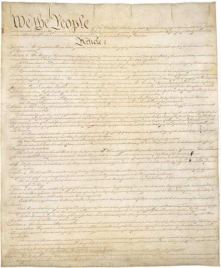 The U.S. Constitution Constitution of the United States, page 1.jpg