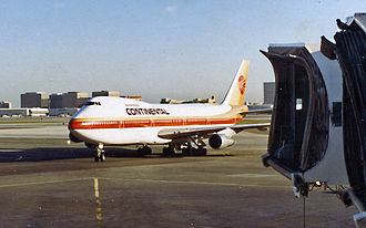 Continental Airlines - Continental Boeing 747 at Los Angeles in 1987