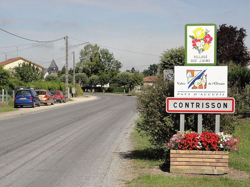 Contrisson (Meuse) city limit sign