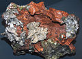 Copper and silver (Mesoproterozoic, 1.05-1.06 Ga; Adventure Mine, Ontonagon County, Upper Peninsula of Michigan, USA) (16691572374).jpg