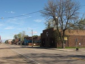 Sheyenne, North Dakota - Looking north on U.S. Route 281