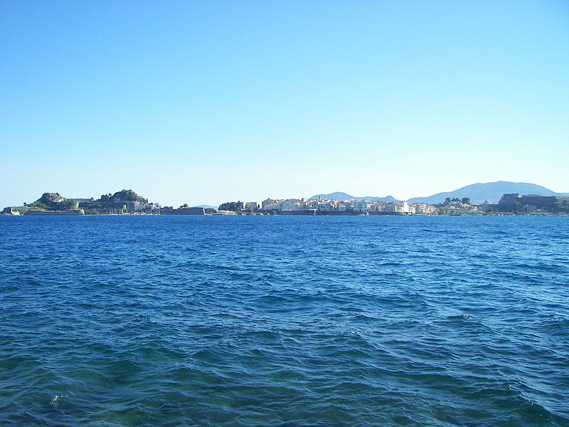 File:Corfu city from the sea.JPG