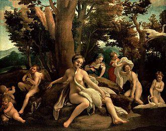 Leda and the Swan - Leda and the Swan by Correggio