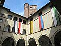 Cortile del castello dei Principi d'Acaja, Fossano (3).JPG