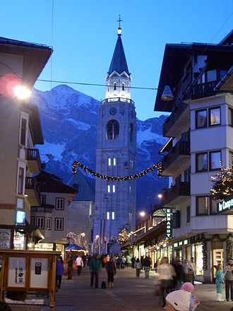 Cortina d'Ampezzo - The town centre of Cortina d'Ampezzo