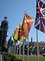 County flags around Parliament Square, 2019.jpg