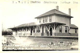 Cranberry Portage - Cranberry Portage railway station circa 1910
