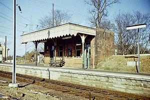 Cressing railway station - Cressing railway station in 1976