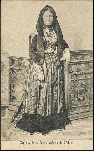 Sfakians - Woman from Sfakia; 19th century.