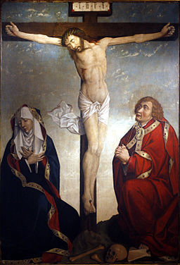 Crucified Christ between Saint John and Mary mg 1689