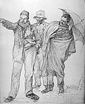 Cruise passengers 1891 with rain, C.W. Allers.jpg