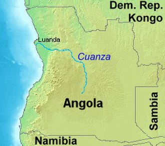 Cuanza River - The Cuanza River in Angola