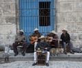 Cuban band members play on the Plaza de la Cathedral in Havana, Cuba LCCN2010638661.tif