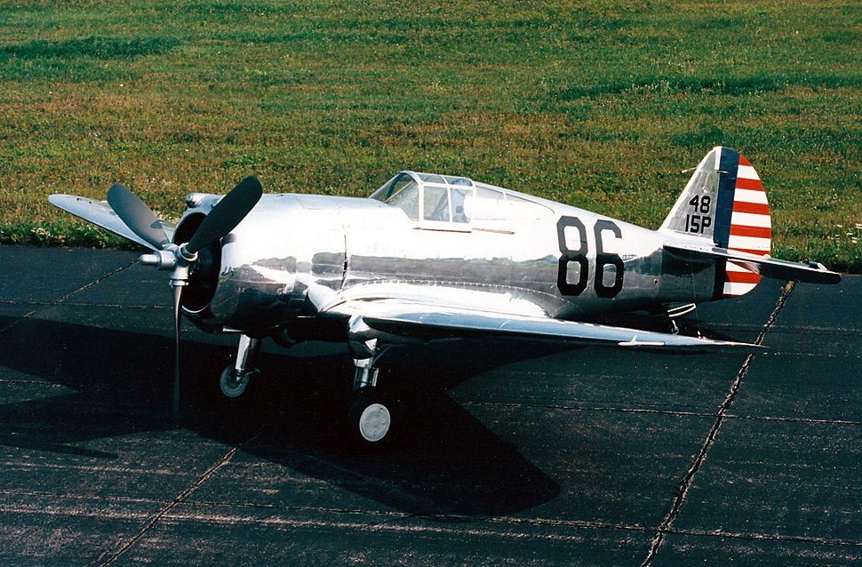 Curtiss P-36A Hawk LSideFront Airpower NMUSAF