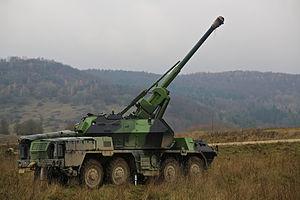 152mm SpGH DANA - DANA in firing position