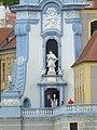 Dürnstein Stift Turm Johannes Nepomuk.jpg