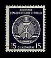 DDR, Dienstmarke, 15 Pfennig, Zirkel rechts, postfrisch.jpg