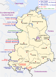 Cartina Germania Ovest.Confine Tra Germania Est E Germania Ovest Wikipedia