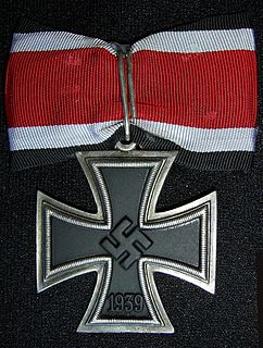 Knights Cross of the Iron Cross military award of Nazi Germany