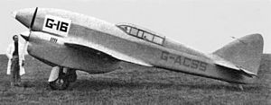 A.E. Clouston - DH.88 Comet (G-ACSS), Gravesend, August 1937