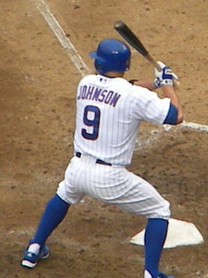 Reed Johnson - Johnson with the Chicago Cubs in 2009.