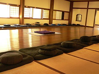 Zen - The 'meditation hall' (Jp. zendō, Ch. chántáng) of Dai Bosatsu Zendo Kongo-Ji
