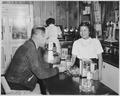 Daisy Pino, an Acoma girl, during on-the-job training at Brown's Cafe, Albuquerque, New Mexico, 04-18-1951 - NARA - 519153.tif