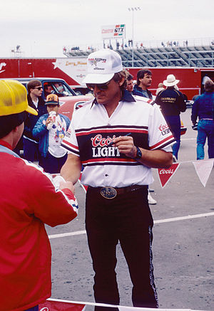 Dan Pastorini - Signing autographs at a 1987 NHRA event
