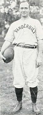 Dan McGugin, holding a football