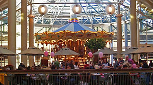 Danbury Fair (shopping mall) - The carousel in the food court, echoing the fairground site the mall was built on.