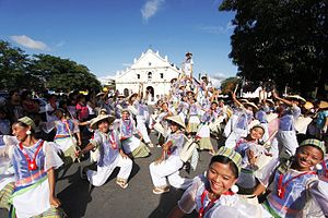 World Costume Festival - Dancers in Vigan City during the Binatbatan Festival of the Arts.