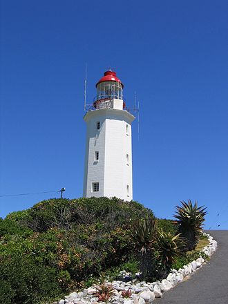 HMS Birkenhead (1845) - The Danger Point lighthouse, erected near Gansbaai after the sinking.