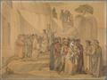 Dante begegnet einer Schar Seelen, das Miserere singend, die bei gewaltsamem Tod ihre Sünden bereuten und so gerettet wurden; mehrere von ihnen geben sich ihm zu erkennen (SM 942h).png