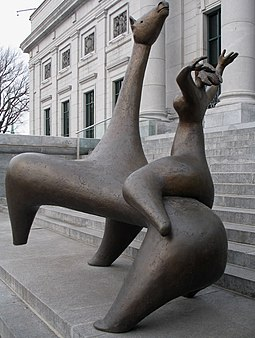 La Cavaliere by Charles Daudelin, 1963, installed in front of the pavilion Gerard Morisset of the Quebec National Museum of Fine Arts in Quebec City Daudelin-Cavaliere-Quebec.JPG