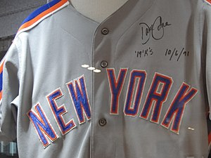David Cone - Cone's jersey from his 19 strikeout game on October 6, housed in the Mets Hall of Fame and Museum at Citi Field